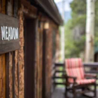 Meadow cabin outdoor view