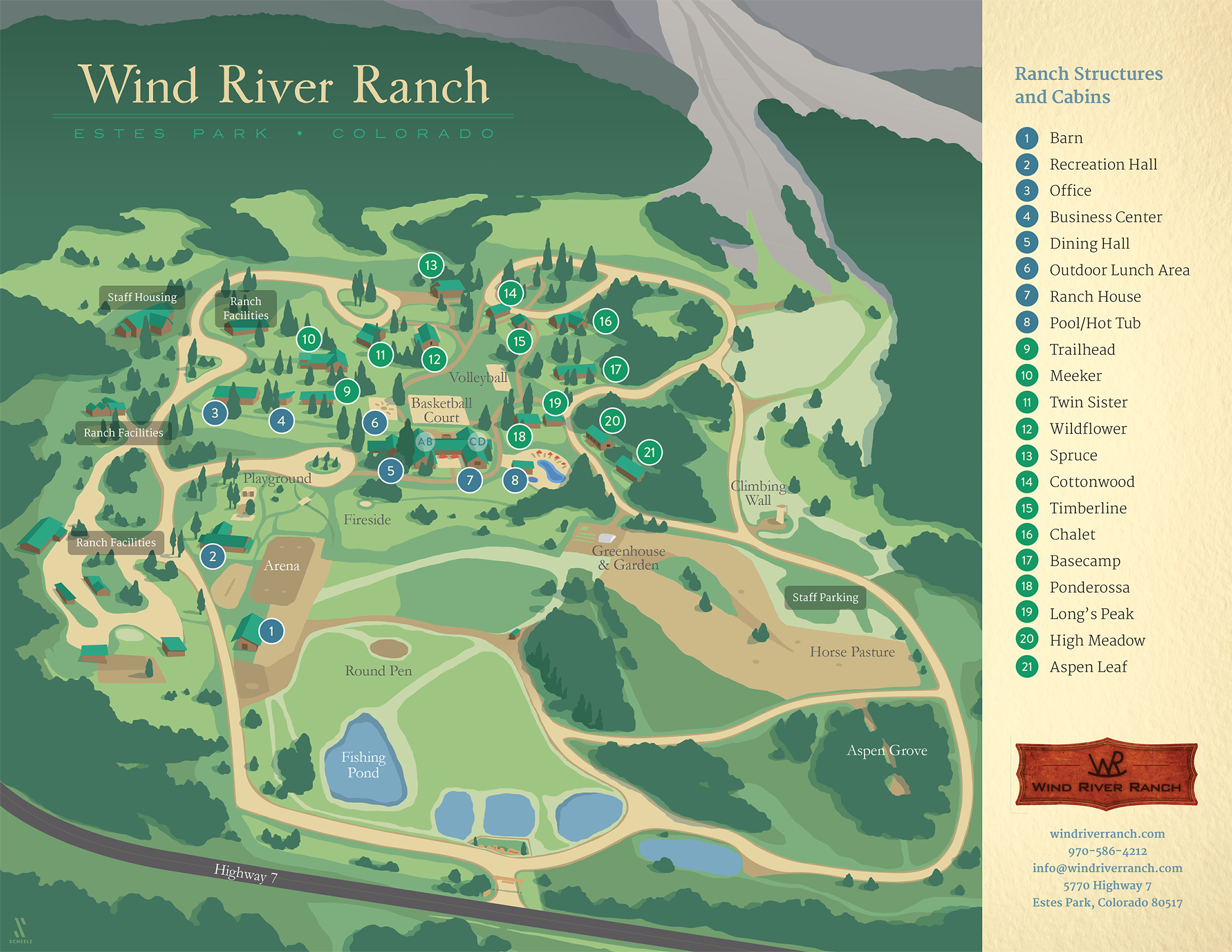Wind River Ranch map